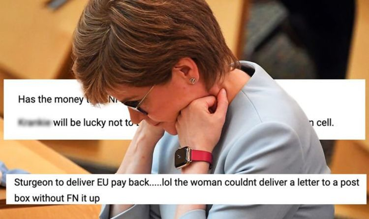 'Sturgeon couldn't deliver letters to a post box!' Britons laugh off Brexit payback threat