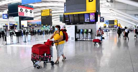Vaccinated U.S. and E.U. travelers can enter England without quarantining.