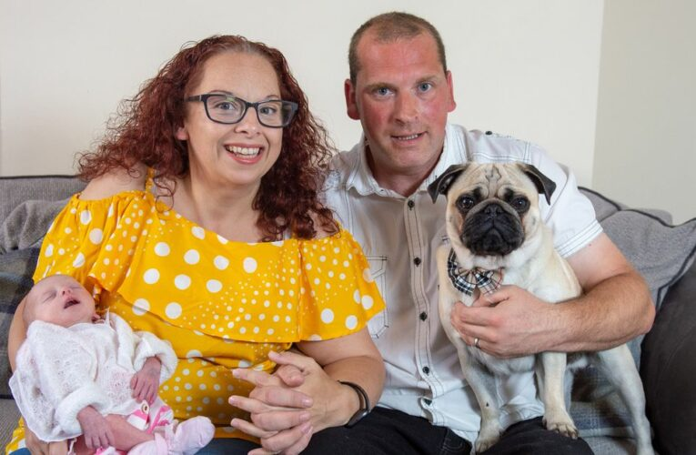 Woman, 43, facing appendix removal found she was in labour with 'miracle' baby