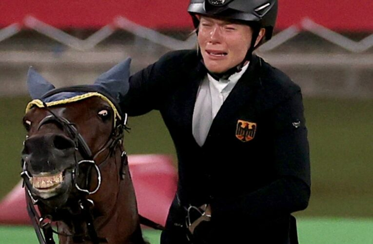 Coach kicked out of Tokyo Olympics after she punched horse that refused to jump