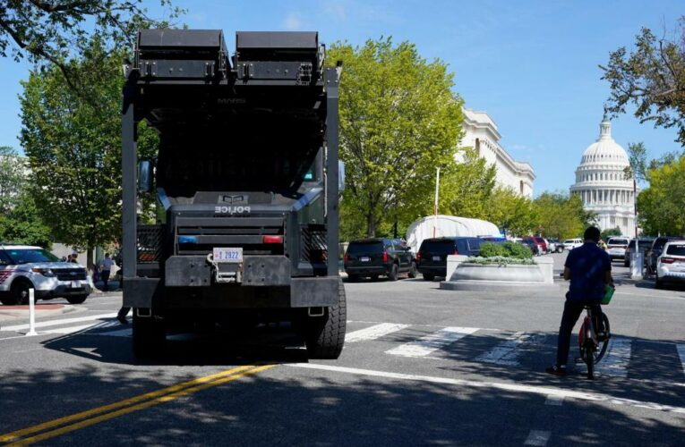 Report of explosive in truck near Capitol