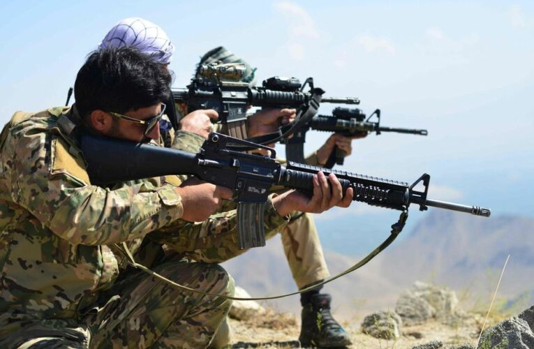 Afghan resistance under assault from 'very well armed' Taliban with US weapons