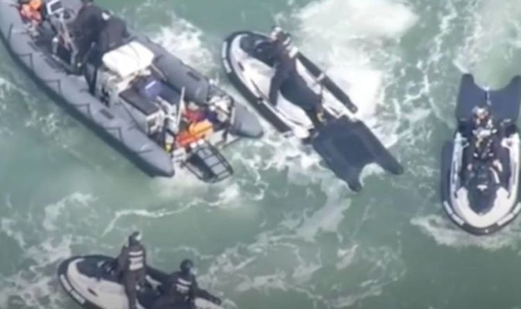 Border Force footage shows training of turning back boats with jet skis 'Patel is serious'