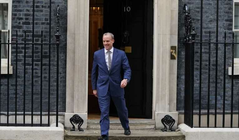 Downing Street insists Dominic Raab will keep playing 'important senior role' despite being replaced as foreign secretary