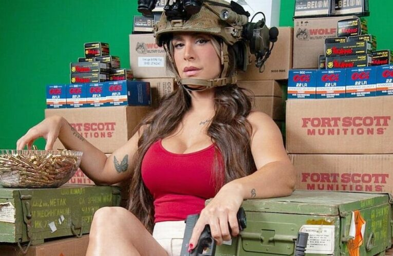 Ex-combat solider dubbed 'Queen of Guns' stays fit so she can fire weapons