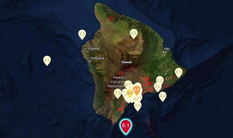 Hawaii rocked by huge earthquake and 12 aftershocks: Shaking buildings spark panic